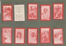 Collectable  cigarette cards Actresses Sensual Beauty set 1905